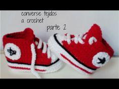 como hacer unos converse tejidos a crochet para bebe - YouTube