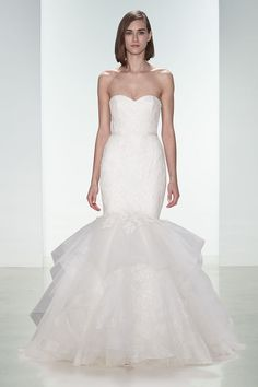 Amsale fishtail wedding gown