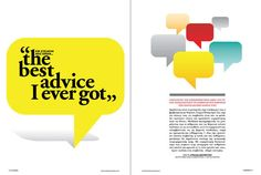 43 bestadvice 800 01 IN Business Magazine Spreads Magazine Design Inspiration, Source Of Inspiration, Layout Inspiration, Magazine Spreads, My Magazine, Yearbook Layouts, Magazine Layouts, Feature Article, Annual Reports