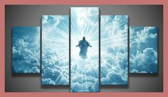 5 panel printed group canvas painting Jesus is coming canvas print art Modern Home Decor wall Art picture for living room F0019
