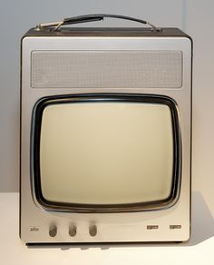 design-is-fine: Dieter Rams, prototype for a. Vintage Television, Television Set, Tv Set Design, Retro Design, Retro Futuristic, Futuristic Design, Dieter Rams Design, Braun Dieter Rams, Portable Tv