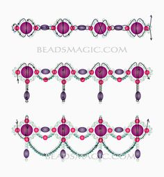 Free pattern for beaded necklace Whiteness | Beads Magic