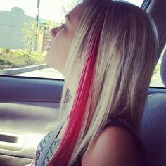 Instead of a red streak I will do blonde in my dark brown hair