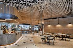 The meeting place: 1 Martin Place, Sydney | Indesignlive City Hall Architecture, Interior Architecture, Interior And Exterior, Cafe Design, Interior Design Studio, Restaurant Design, Restaurant Bar, Food Court Design, Shopping Mall Interior