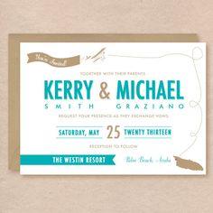 Destination Wedding Invitation Printables DIY Print at Home $30