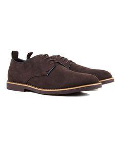 Dark Brown Contrast-Piping Shoe