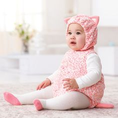 dress up babys first halloween in a fleece bubble cat costume from carters with matching long sleeve tee complete the look with ballet tights