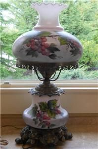 Victorian Hurricane Table Lamp | ... Victorian Gone With The Wind Hurricane  Parlor Brass