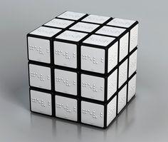 Cubo rubik para gente ciega mediante braille