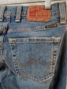 Womens LUCKY BRAND Sweet 'N Low SHORT LENGTH DUNGAREES Jeans Pants 0 25