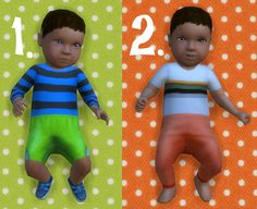 It's all about clutter, Baby Overrides: Set 16 - Medium Skin/Boy + Brown...