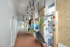 Look at this for a school corridor! Proprioception.....who says you have to walk in a single line down the hallway.
