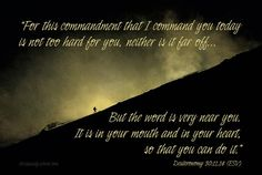 You Can Do It! - Deuteronomy 30:11,14 - Daily Verse