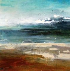 "Joan Fullerton Paintings: Contemporary Abstract Landscape Painting ""Premonition"" by Intuitive Artist Joan Fullerton"