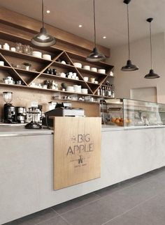 The big aplle coffe shop 1 bar café einrichtungen, café bar и coffee shop. Coffee Shop Interior Design, Coffee Shop Design, Restaurant Interior Design, Diy Interior, Coffee Cafe Interior, Coffee Shop Interiors, Cafe Interior Vintage, Modern Interior, Cozy Coffee Shop