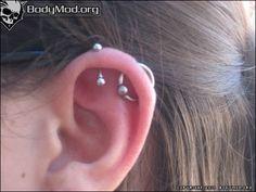 orbital piercing - except for lower more like side of ear instead upper Orbital Piercing, Body Mods, Ear Piercings, Your Skin, Hair Beauty, Tattoos, Pretty, Jewelry, Body Modifications