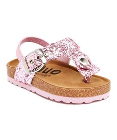 Another great find on #zulily! Pink Fatia Glitz Sandal by Blue Suede Shoes #zulilyfinds