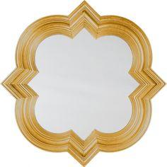 Gold Quatrefoil Mirror from GlamFurniture.com - $286.00