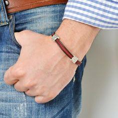 Items similar to Men's Leather Bracelet. Gift ideas for men. on Etsy Suede Bracelet, Diy Bracelet, Leather Bracelets, Handmade Leather Jewelry, Bracelet Designs, Bracelets For Men, Leather Men, Mens Fashion, Gifts