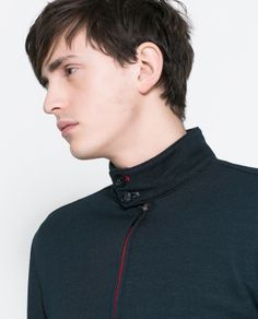 ZARA - MAN - PIQUE JACKET WITH CONTRASTING PIPING