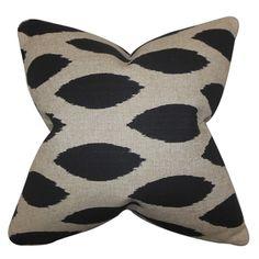 Juliaca Ikat Black Feather Filled 18-inch Throw Pillow - Overstock™ Shopping - Great Deals on PILLOW COLLECTION INC Throw Pillows