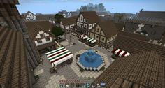 minecraft medieval   Minecraft Medieval Town