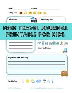 Capture memories and teach kids the joy of journaling with these simple to use free travel journal printable for kids! Via @we3travel