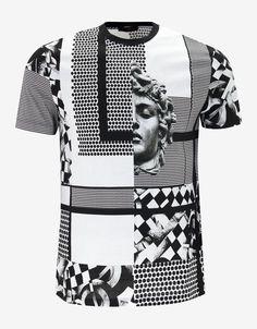 Versace Chess Machine Graphic T-Shirt