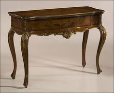 Empire carved console empire style carved wood console - Console de table ...