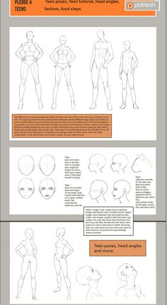 Teen tutorial by Precia-T on DeviantArt Human Figure Drawing, Figure Drawing Reference, Anatomy Reference, Art Reference Poses, Manga Drawing Tutorials, Drawing Techniques, Art Tutorials, Tutorial Draw, Poses References