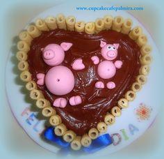 Torta Barquillos y Chocolate. Marranitos #pigs