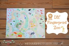 One Tough Mother: Summer Fun Camp - DIY Fingerprint Zoo