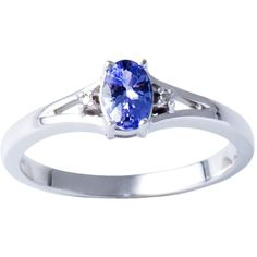 H Star Sterling Silver Tanzanite Diamond Accent Ring ($75) ❤ liked on Polyvore featuring jewelry, rings, silver, tanzanite jewelry, star ring, sterling silver jewelry, diamond accent ring and sterling silver rings