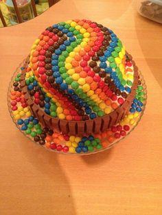Selfmade smarties/KitKat BirthdayCake for my nephew