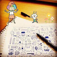 """@mizutamahanco's photo: """"準備体操お絵描き。    Application:  Snapeee  #snapeee"""""""