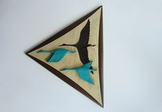 Mid Century Atomic Burwood 3D Flying Geese Wall Art