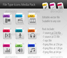 File type Icons Media Pack