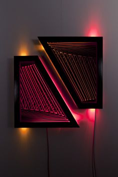 Fragment , wood, reflective glass, mirror, MDF and LED lights, 97 x 90 x 13cm. Photo: Pippy Mount.