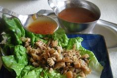 Great recipe for PF Chang's Chicken Lettuce Wraps.  Make it spicier by adding more red chile paste.