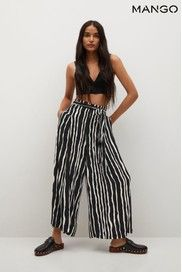 Leggings, How To Cut A Mango, Baggy, Mango France, Trousers Women, Print Design, Black And White, Prints, Collection