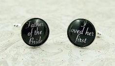 Father of the bride cufflinks, love my daddy
