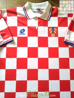 Relive Croatia's 1996/1997 international season with this original Lotto home football shirt.