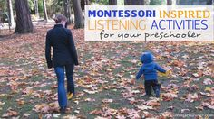 Montessori Inspired Listening Activities for your Children