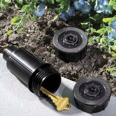 Sprinkler head hide a key. Realistic looking are made from a real sprinkler head, is waterproof and strong accessorry. - $20.99