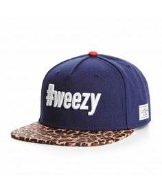 Cayler & Sons #weezy Navy - Leopard snapback cap