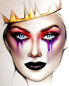 Gorgeous Makeup Ideas My Top Fx Makeup, Makeup Goals, Makeup Inspo, Makeup Inspiration, Beauty Makeup, Maquillage Halloween, Halloween Makeup, Mac Face Charts, Mac Makeup Looks