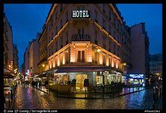 Paris Streets at Night | ... and pedestrian streets at night. Quartier Latin, Paris, France (color