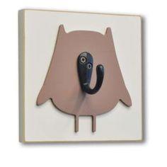 Hooks & Hangers - Homeworks Etc Single Hook Wall Decor Brown Owl SH4 23