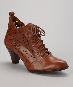 This Tan Vanity Leather Bootie is perfect! #zulilyfinds