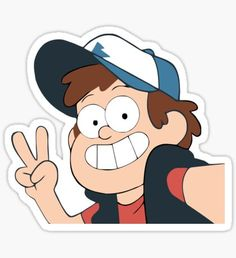 Stickers Cool, Bubble Stickers, Cartoon Stickers, Printable Stickers, Planner Stickers, Cute Cartoon, Cartoon Art, Gravity Falls Personajes, Gravity Falls Characters